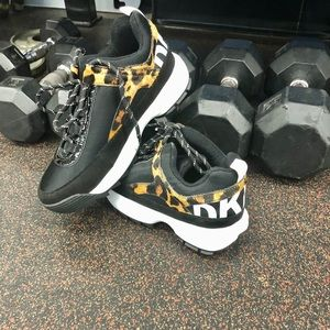 DKNY Dani Leopard Lace Up Sneaker